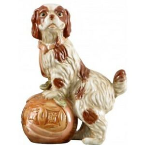 Large Reproduction Majolica Dog Figurine 11 Inches