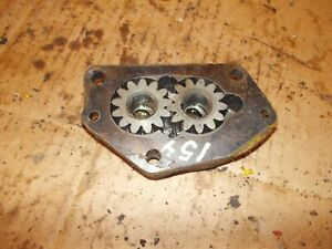 International Cub 154 Low Boy Tractor Ih Engine Motor Oil Pump Assembly Cover