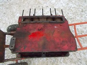 Farmall H Hv Early Sh Tractor Orig Good Ih Gas 4 Cylinder Engine Motor Block
