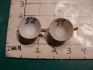 Tiny Tea Cup Hand Painted Two Tiny Nico Japan Cups