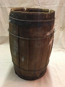 Old Primitive General Store Wood Nail Keg Barrel Planter Western Country Farm A