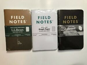 Field Notes Custom Limited Edition Sealed Packs Ll Bean Ingersoll Bluegrass