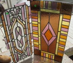Pair Of Old Stained Glass Windows Bargain Days A Bellevue Ky Estate 9