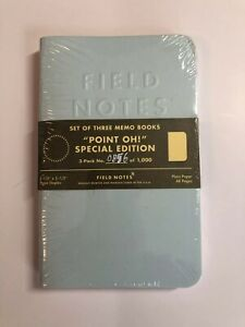 Field Notes Point Oh Limited Edition Sealed Memo 3 pack Notebooks Pastel Color
