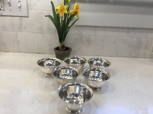 Lot Of 6 Reed Barton Paul Revere Footed Silver Cups Bowls