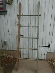 Old Wood Barn Ladders Vintage Farm Extension Ladders All Original Pair
