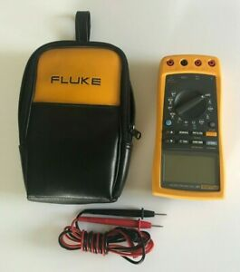 Fluke 187 True Rms Multimeter With Soft Case Leads Tested Working