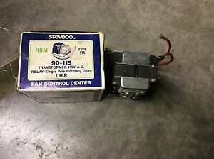 Steveco 90 115 Type 175 Transformer 115vac Relay Single Pole Normally Open 1hp