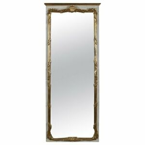 French Provincial Giltwood Foliate And Shell Wall Mount Dressing Mirror