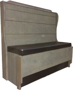 Rockford Single R800s 48 42 Restaurant Booth Pad Seat V Grooved Tapered Back
