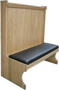 Oakbrook 5900s Restaurant Booth Single Wood Seat back
