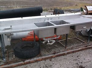Supreme Metal Stainless Steel Cleaning Sink 108 Inches Long 9ft