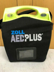 Zoll Aed Fully Automatic Plus Package Defibrillator Batteries Carry Case