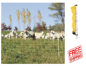 Sheep Electric Goat Net Fence Cattle Pigs Outdoor Netting Fencing 35 Tall X 164