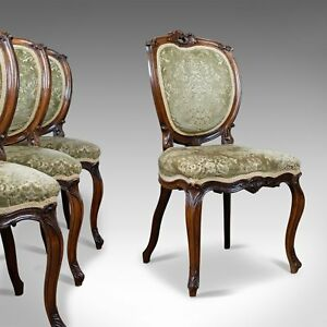 Antique Set Of Four Dining Chairs Victorian Rosewood Howard Sons Circa 1880