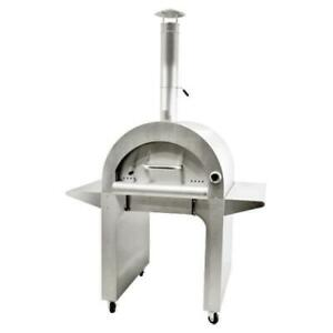 Omcan 43114 Wood Burning Oven 10 Min Heating Time 26 6 X 31 5 Brick Cooking