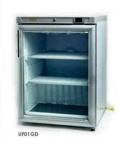 Hebvest Uf01gd Single Glass Door Undercounter Reach in Freezer 115v