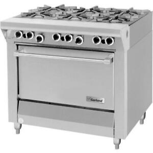 Garland M43s Master Series 6 Burner 34 Range With Storage Base 120 000 Btu