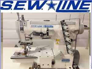 Sewline Sl 664 Top Quality Cylinder Bed Coverstitch Industrial Sewing Machine