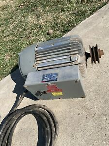 Ajax 7 5hp Single Phase Electric Motor 230v 1725 Rpm 1 Ph With Starter