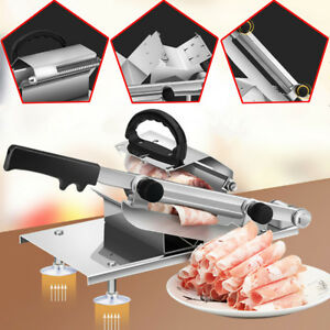 Adjustable Manual Frozen Food Meat Slicer Beef Mutton Sheet Roll Cleavers Cutter