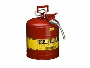 Justrite Type Ii Accuflow 5 Gallon Gasoline Safety Can 7250120 Brand New In Box