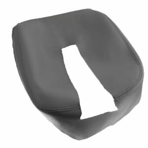 Gray Console Lid Armrest Cover Leather For Sierra Chevy Silverado Tahoe Yukon