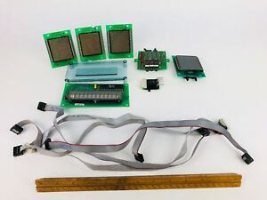 Lot 6 Display Board For Vending Machines 5 Ribbon Cables Untested Aip Crane