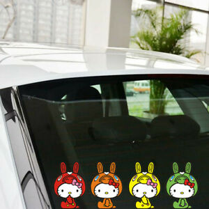 Hello Kitty Group Of Four Cartoon Paperclip Cover Car Decal Decoration Stickers