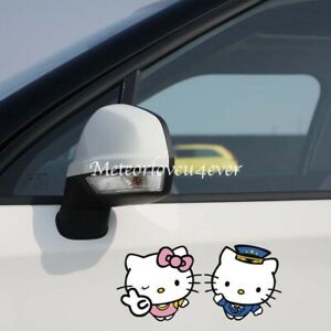 Hello Kitty Cute Couples Cartoon Paperclip Car Decal Windshield Car Stickers