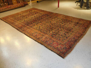 Antique Persian Kurd Bijar Rug Distressed Carpet Worn 7 3x12 3 Shabby Chic