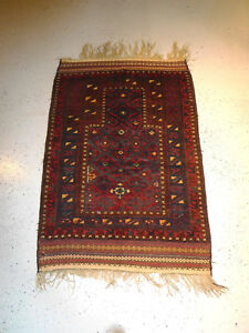 Antique Balouchi Rug Rare 2 11x 4 6 Baluchi Lovely Prayer Carpet