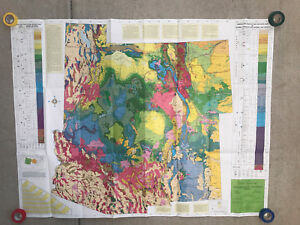 1967 Geologic Map Of Utah Arizona Colorado And New Mexico