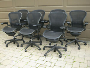 Used Herman Miller Aeron Chair Size B Fully Adjustable