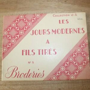 Vintage French Embroidery Book Of Drawn Threads A Fils Tir S Paris