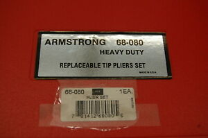 Armstrong Heavy Duty Snap retaining Ring Pliers Set W replacement Tip