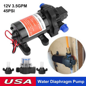 On Demand Diaphragm Water Pump 12v 45psi 13l m Ideal For Caravan rv boat marine
