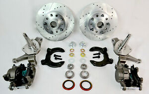 Mustang Ii Front Drilled Slotted Dual Bolt Pattern Rotors Disc Brake Kit 2 Drop