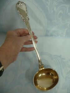 Beautiful Antique Russian 84 Silver Moscow Large Heavy Ladle 324 Grams