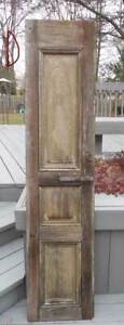 Antique Architectural Wood Shutter Salvage Farm Country D