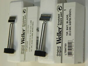 Weller Ltsmt02 Or Ltsmt03 Solder Tip Blade Chisel For Wsp80 Pencil