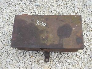 International 300 350 Utility Tractor Ih Tool Box W Lid Sign Holder