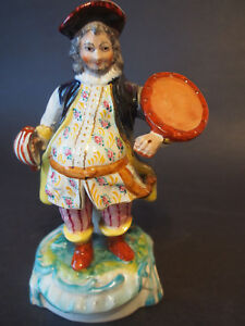 Antique Early 19th C Staffordshire Falstaff Figure Extremely Detail Face Hp 9