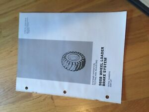 Cat 988b Wheel Loader 988 Tractor Brakes Service Manual Antique 50w