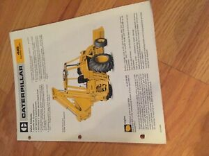 Cat 416 Backhoe Tractor Brochure Original Antique