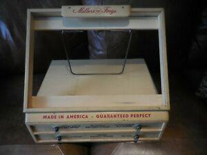 Vtg Wood Millers Forge Drug Hardware Store Counter Top Display Case W Drawers
