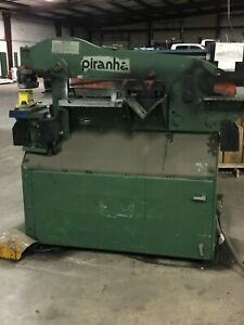 Piranha P3 Iron Worker 50 Ton Tooling Punches And Dies Included