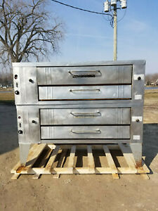 Bakers Pride Y600 Double Stack Stone Deck Oven New Stones Nat Gas Tested