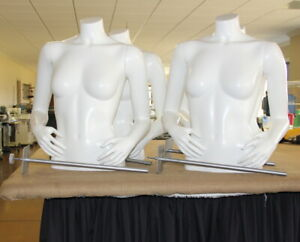 Female Bust Mannequin W Arms In Front