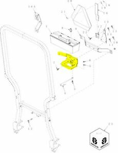 New Holland 86530716 Tool Box Bracket For T Tc Series Compact Tractors